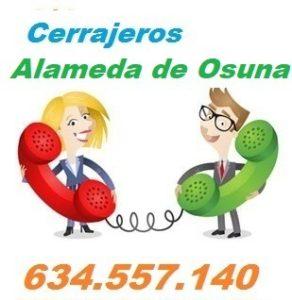 Telefono de la empresa cerrajeros Alameda de Osuna